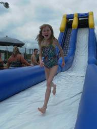 Ashley on Water Slide
